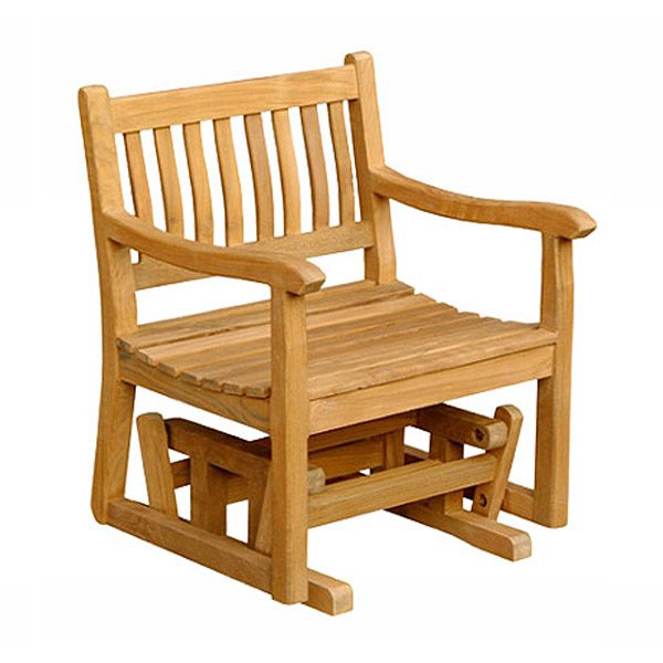 Excellent Teak Glider Chair Totgc001 Furniture For Your Porch Garden Gmtry Best Dining Table And Chair Ideas Images Gmtryco
