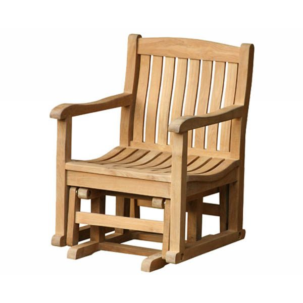 Fantastic Teak Glider Chair Totgc002 Furniture For Your Porch Garden Gmtry Best Dining Table And Chair Ideas Images Gmtryco